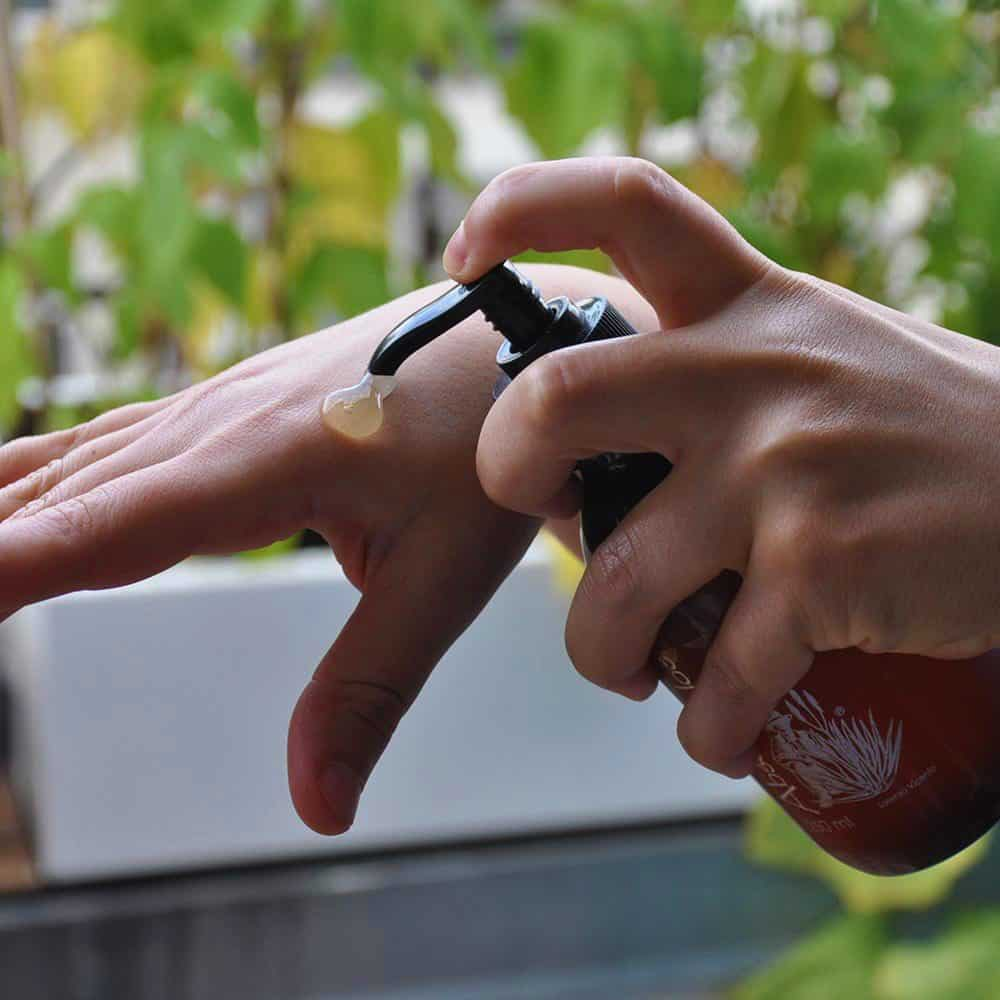 Organic Aloe Vera Gel Hands Fuerteventura
