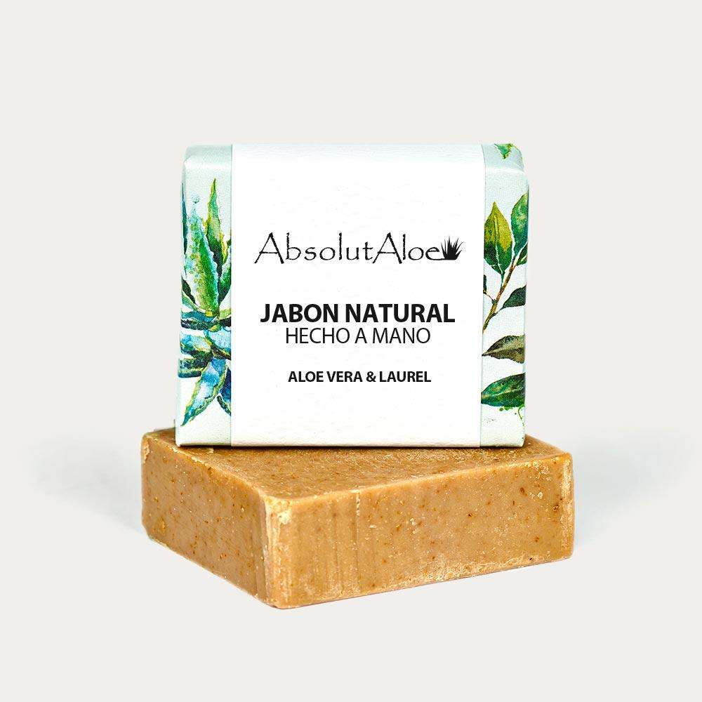 Jabón Natural Hecho a Mano - Aloe Vera y Laurel - AbsolutAloe
