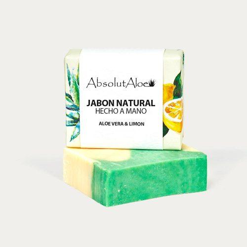 Jabón Natural Hecho a Mano - Aloe Vera y Limón - AbsolutAloe